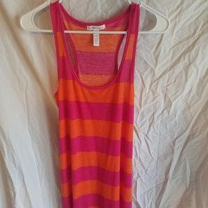 Ambiance Apparel Pink and Orange Maxi Tank Dress